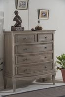 French Bordeaux 2 Over 3 Drawer Chest